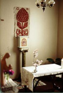 cappella nell'appartamento di don Andrea a Verderocca