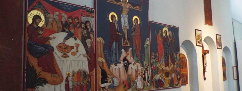 trittico icone a Santa Martia - Trabzon