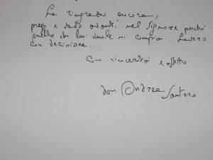 da una lettera al cardinale Poletti