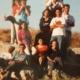 don Andrea con il gruppo dei giovani in pellegrinaggio in Medio Oriente